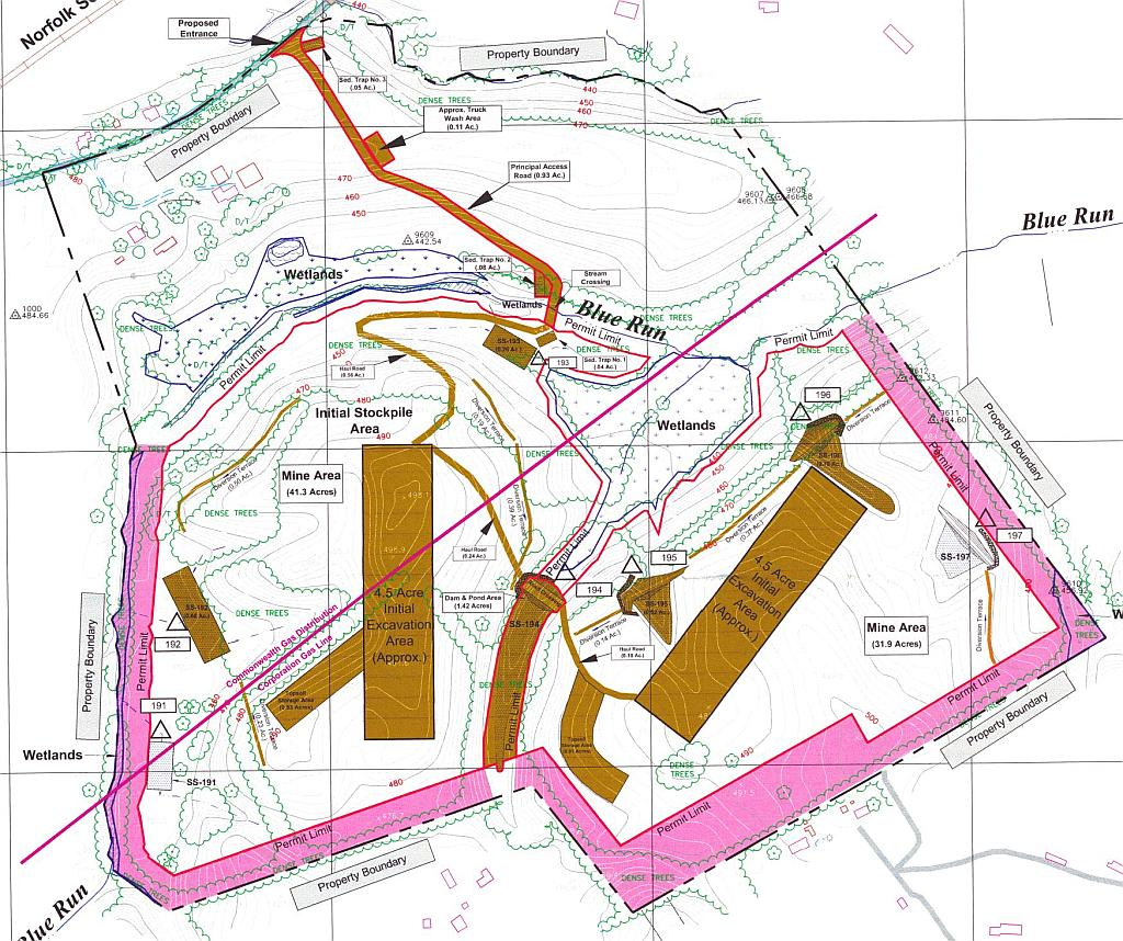 Application Site Map: FoB: Mine Issues: Mining Permit Application Map
